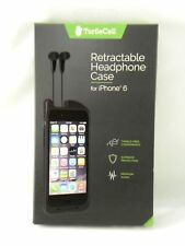 NEW, Turtle Cell Retractable Headphone Case for Apple iPhone 6 (Black)