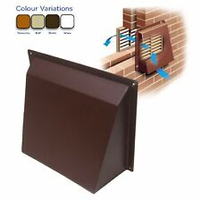 Hooded Cowl Vent Cover for Air Bricks Grilles Extractors Colour & Size Options