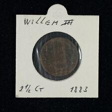 2½ Cent Niederlande 1883   Willem III.   im Münzrahmen   KM:108.1