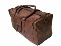 Bag Leather Real Travel Duffle Luggage Gym Weekend Men Brown S Handmade Holdall