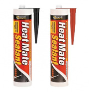 More details for heat mate silicone sealant black/red high temps resistant fire log burner stoves