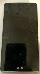 LG G Stylo LS770 8GB Silver (Boost) PARTS REPAIR Fast Ship Fair Used