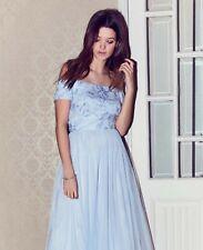 BNWT COAST Jaya Blue Sequin Lace Bardot Prom Maxi Dress Ball Gown Size 12 £119