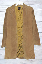 Wet Seal Women's Long Suede Leather Tie-Up Trench Coat Size Small