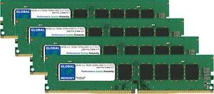 64GB 4x16GB DDR4 2400MHz PC4-19200 288-PIN ECC UDIMM SERVER/WORKSTATION RAM KIT