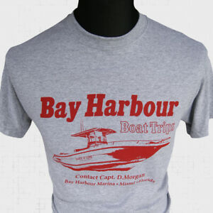 Bay Harbour Boat Trips T Shirt Dexter Morgan Slice Of Life TV Themed Cool Grey