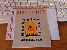 ADESIVO VINTAGE STICKER kleber ride on time mountain riders kastle