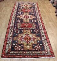 Antique Handmade Persian Karajeh Runner 320 x 115 cm Hand Knotted Wool Runner