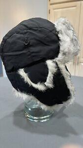 Yukon Tracks Genuine Rabbit Fur Lined Outdoor Winter Trapper Ear Flap Hat Sz Lg