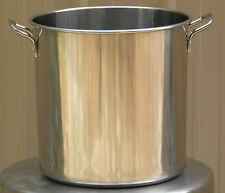 Stainless Steel Brew Kettle Stock Pot with Lid 20 qt for Brewing and Distilling
