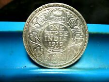 1919-B - India - One Rupee - Silver - UNC      ( V-6)