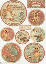 Rice Paper for Decoupage Decopatch Scrapbook Craft Sheet Christmas Teddy Bears