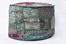 Bohemian Patchwork Ottoman Pouf Cover Vintage Chair Bean Bag Footstool Decor