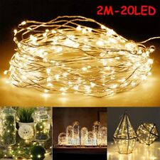 6 x 20 LEDs Battery Operated LED Copper Wire String Fairy Lights Lamp 2M Party