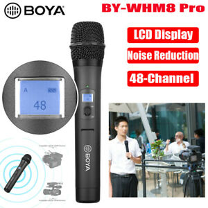 BOYA BY-WHM8 Pro 48-Channel Wireless Handheld Microphone for Interview Recording