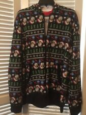 Seven Oaks  Super Cute  Santa Clause Bomber Style Hoodie Jacket  Size L NEW