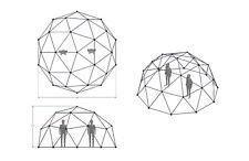 "V2 Geodesic Hammock Dome 3/4"" EMT Shelter Tent Coop Playground"