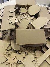 2kg... Clearance Wholesale Laser Cut Wooden OFF CUTS MDF Love Heart Craft Shapes
