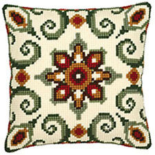 Beautiful chunky cross stitch cushon front kit 40x40cm from Vervaco