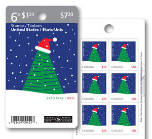 Canada 2957a Christmas Green Tree $1.20 booklet (6 stamps) MNH 2016