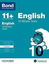 Bond 11+: English: 10 Minute Tests 9-10 Years by Sarah Lindsay 9780192740533