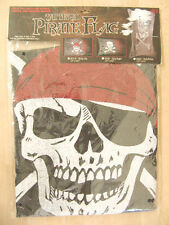 "NEW Sunstar Halloween Tattered ""Skully Cap"" Decorative 37"" x 23"" Pirate Flag"
