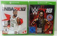 XBox One - WWE 2K18 + Kurt Angle Pack + NBA 2K18 - Sportspak