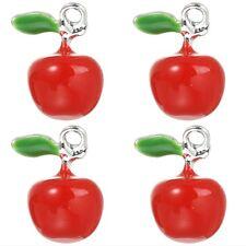 4 SMALTO ROSSO 3d Apple ciondolo charms