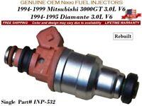 x6 OEM Nikki Fuel Injectors for 1994-95-96-97-98-1999 Mitsubishi 3000GT 3.0L V6