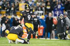 CHRIS BOSWELL STEELERS WINNING KICK 12/10/17 8X10 VS RAVENS CLINCH DIVISION