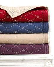Martha Stewart Solid Diamond Stitch Khaki / Cream Standard Sham Z668