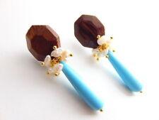 Mode-Ohrschmuck aus Holz mit Durchzieher-Verschluss