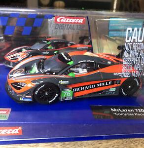 "CARRERA DIGITAL 132 McLaren 720S GT3 ""Compass Racing"" #76: 1:32 Slot Car NEW"