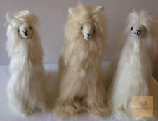 12.5 IN Standing Suri Baby Alpaca stuffed  with Authentic Baby Alpaca Fur -Peru