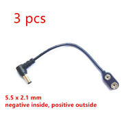 9V Battery Clip Converter Power Cable Connector Plug For Guitar Effects Pedals