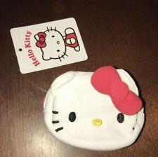 Sanrio HELLO KITTY Coin Purse Pouch Hello Kitty's Face w/ Bow