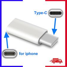 Adaptateur iPhone 8 pin femelle  Vers Type C Adaptateur Convertisseur Chargeur