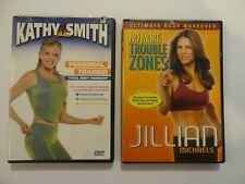 Lot of 2 exercise Dvds: Kathy Smith, Jillian Michaels - Free Shipping! Ab26