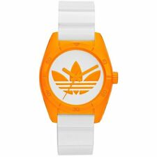 New ADIDAS ADH2851 Santiago Sport Watch Women's Orange on White