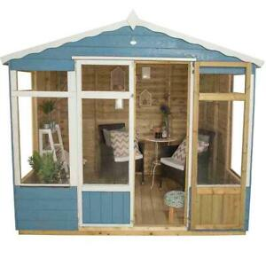 Forest Oakley 8x6 Pressure Treated Summerhouse - Assembly Available