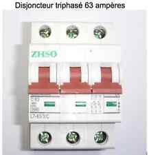 Disjoncteur coupe circuit  triphasé modulaire 63 ampères neuf garantie 3 ans