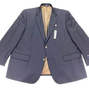 NEW Joseph & Feiss Gold Men's Executive Fit Blazer Navy Blue • Big & Tall • 50 R