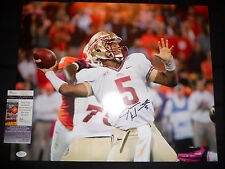 JAMEIS WINSTON FLORIDA STATE SEMINOLES SIGNED 16X20 PHOTO W/JSA COA J66226 SALE!
