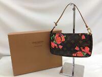 """Louis Vuitton Monogram Rose Pochette Accessoires Brown Pouch Bag 9E240050MKK"""""""
