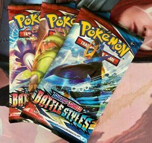 Battle Styles Booster Packs X 3   Pokémon TCG Sword & Shield 5   PKM