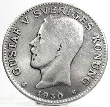 SWEDEN-Svezia (Gustav V) 1 Krona 1930