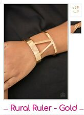 (Gold) Rural Ruler Paparazzi jewelry bracelet