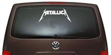 Metallica - Aufkleber, Sticker - ca. 55 cm, Farbe weiss