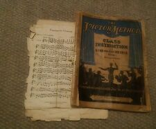008 Vintage 1936 Victor Method Boehm System Clarinet Booklet + Extra Music