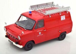 KK SCALE DIECAST FORD TRANSIT VAN 1970 RED FEUERWEHR 1-18 SCALE KKDC180494